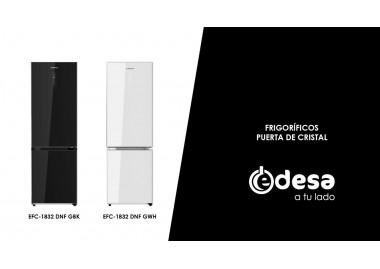 Edesa - Frigider cu uși din sticlă